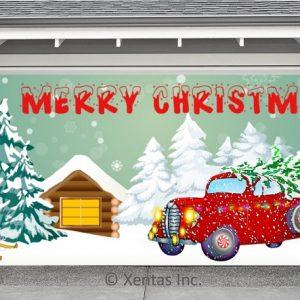 alt=garage-door-decor-christmas-truck