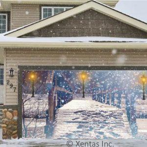 alt=garage-door-decor-snowfall