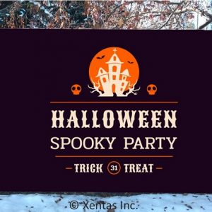alt=fence-banner-halloween-party