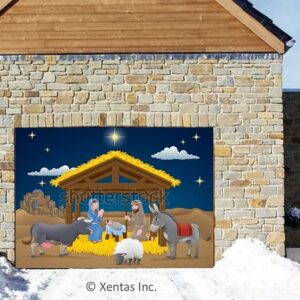 alt=garage-door-decor-nativity-scene