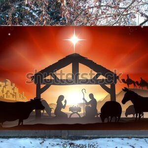 alt=fence-banner-nativity-silhouette