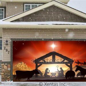 alt=garage-door-decor-nativity-silhouette