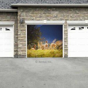 alt=garage-door-decor-llamas