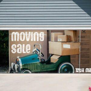 alt=garage-door-banner-moving-sale-car